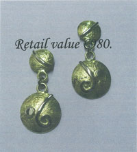 18ct yellow and white gold earrings